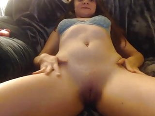 Teen finger fucks pussy and pulls tits