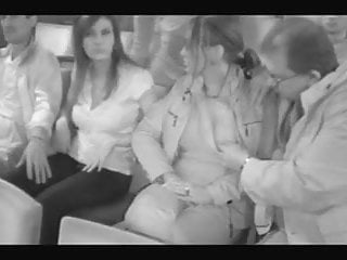 Two girls groped in fake cinema part 1.